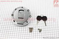 Крышка бака топливного круглая к-кт (корпус метал) для грузового мотоцикла Viper - ZUBR