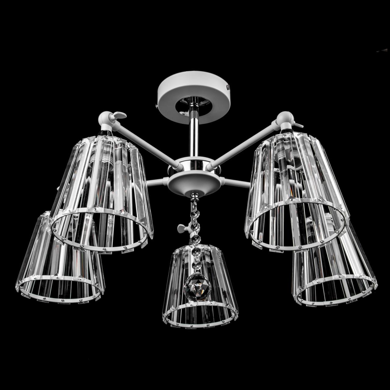Люстра в стиле лофт на 5 лампочек P5-N3597/5/WT+CH