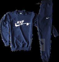 Трикотажный костюм Nike (Найк) темно-синий