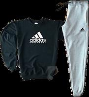 Трикотажный костюм adidas equipment (Адидас) черный с серым