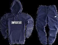 Трикотажный костюм New Balance (Нью Баланс) темно-синий S