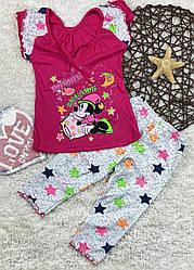 Пижама для девочки летняя, Детки-Текс, рр. 92-98,98-104, 104-110, 110-116, 116-122,арт. 3708,
