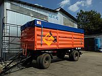 Тентовая накидка из ткани ПВХ  на кузов длиной до 5,5 м шириной до 2,55 м с комплектом для установки