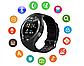 Smart Watch Y1S Black Розумні годинник для спорту і відпочинку, чорні + подарунок, фото 8