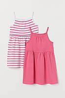 Детские летние платья на узких бретелях для девочки (поштучно)