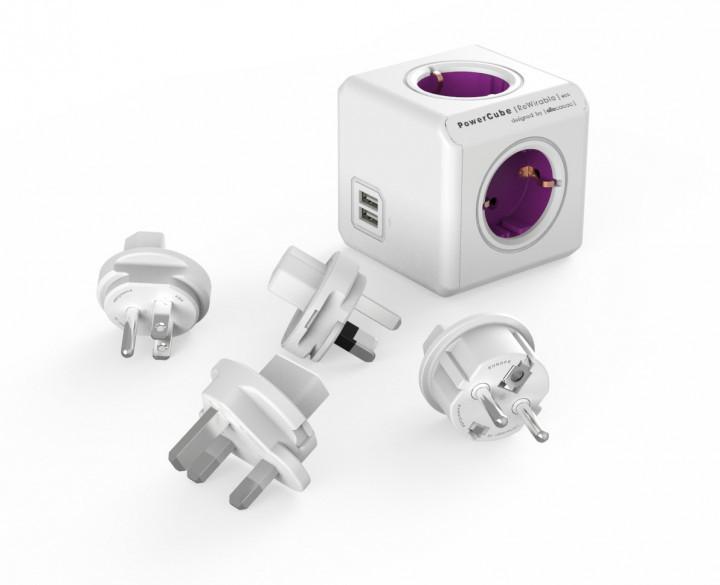 Сетевой фильтр Allocacoc PowerCube ReWirable + 4x plug (1800 / DERW4P)