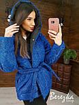 Короткая блестящая куртка хамелеон из люрекса с капюшоном  vN6766, фото 3