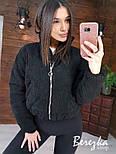 Демисезонная короткая вельветовая куртка бомбер с воротником стойкой vN6768, фото 5