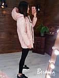 Удлиненная лаковая куртка с капюшоном на весну на молнии и под пояс vN6772, фото 6