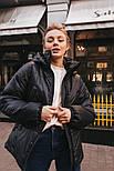 Короткая весенняя куртка из плащевки на весну с тканевым поясом vN6773, фото 4