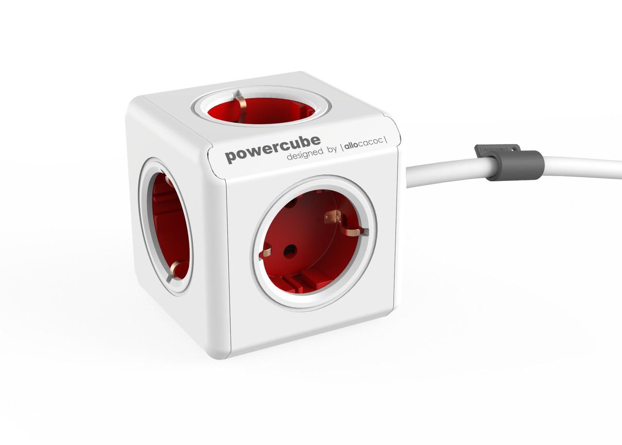 Мережевий фільтр Allocacoc PowerCube Extended, RED (1300RD / DEEXPC)