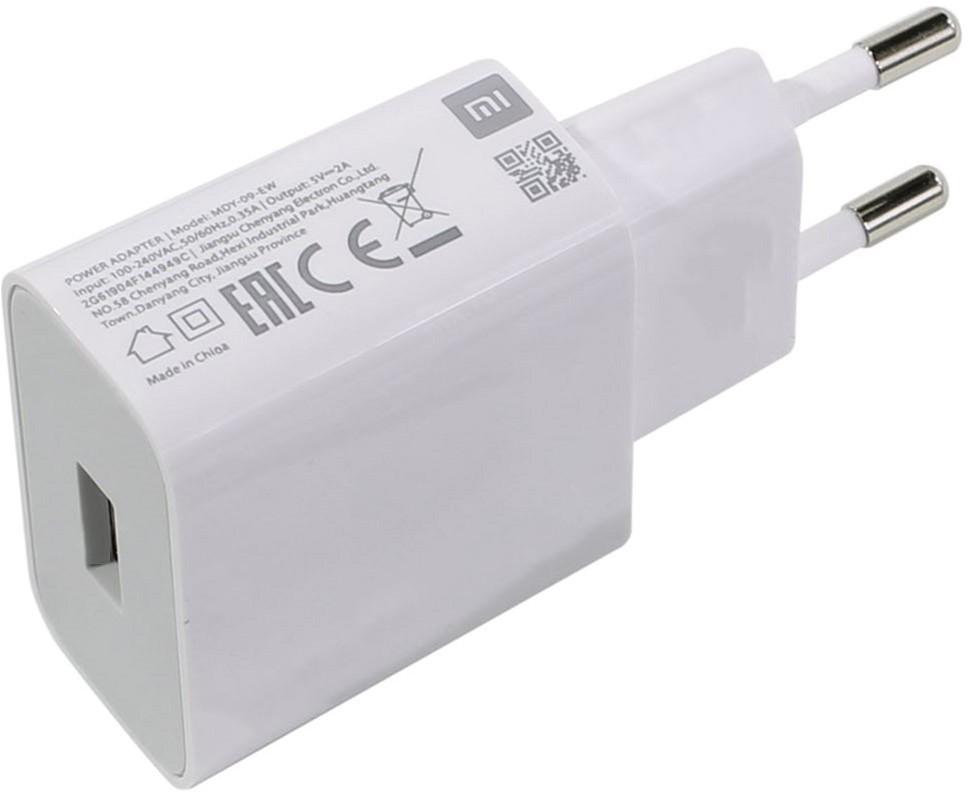 Сетевое зарядное устройство Xiaomi 1USBx2A (MDY-09-EW/MDY-08-EO) White