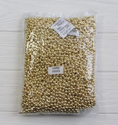 """Бусины   """" Гальваника  5 мм """"  , золото         500 грамм"""