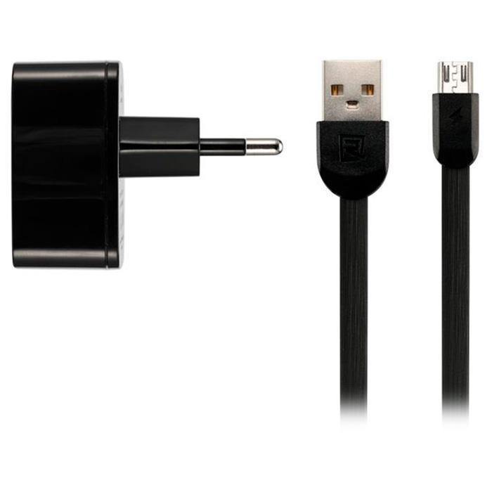 Мережевий зарядний пристрій Remax RP-U215 2USB / 2,4 A / Usb Cable Black