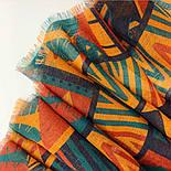 Палантин шерстяной 10839-4, павлопосадский шарф-палантин шерстяной (разреженная шерсть) с осыпкой, фото 4