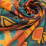 Палантин шерстяной 10839-4, павлопосадский шарф-палантин шерстяной (разреженная шерсть) с осыпкой, фото 6