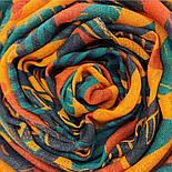 Палантин шерстяной 10839-4, павлопосадский шарф-палантин шерстяной (разреженная шерсть) с осыпкой, фото 7