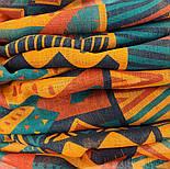 Палантин шерстяной 10839-4, павлопосадский шарф-палантин шерстяной (разреженная шерсть) с осыпкой, фото 8