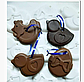 Пасхальная форма для выпечки и десертов шоколада силикон ципленок 9*7 см, фото 4