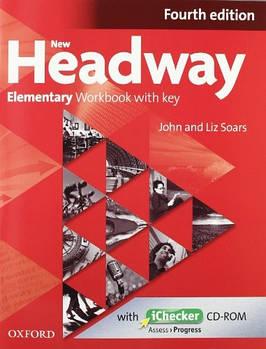 New Headway 4th edition Elementary Workbook with key & iChecker CD-ROM