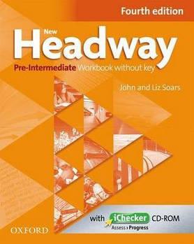 New Headway 4th edition Pre-Intermediate Workbook without key & iChecker CD-ROM