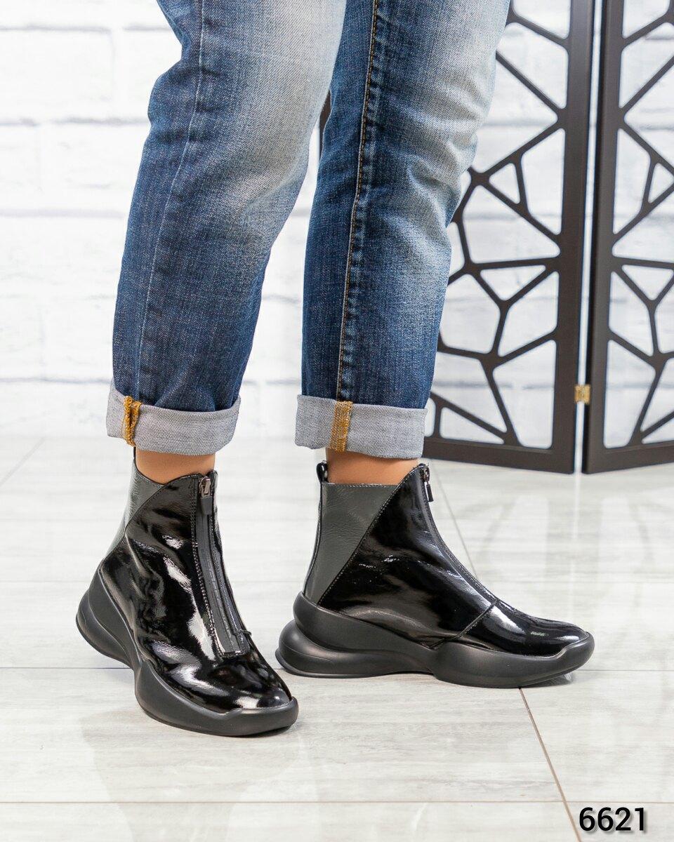 Демисезонные ботинки Натуральная лаковая кожа