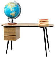 Письменный стол D-40 омбре на черных металлических ногах 130х60х72 H
