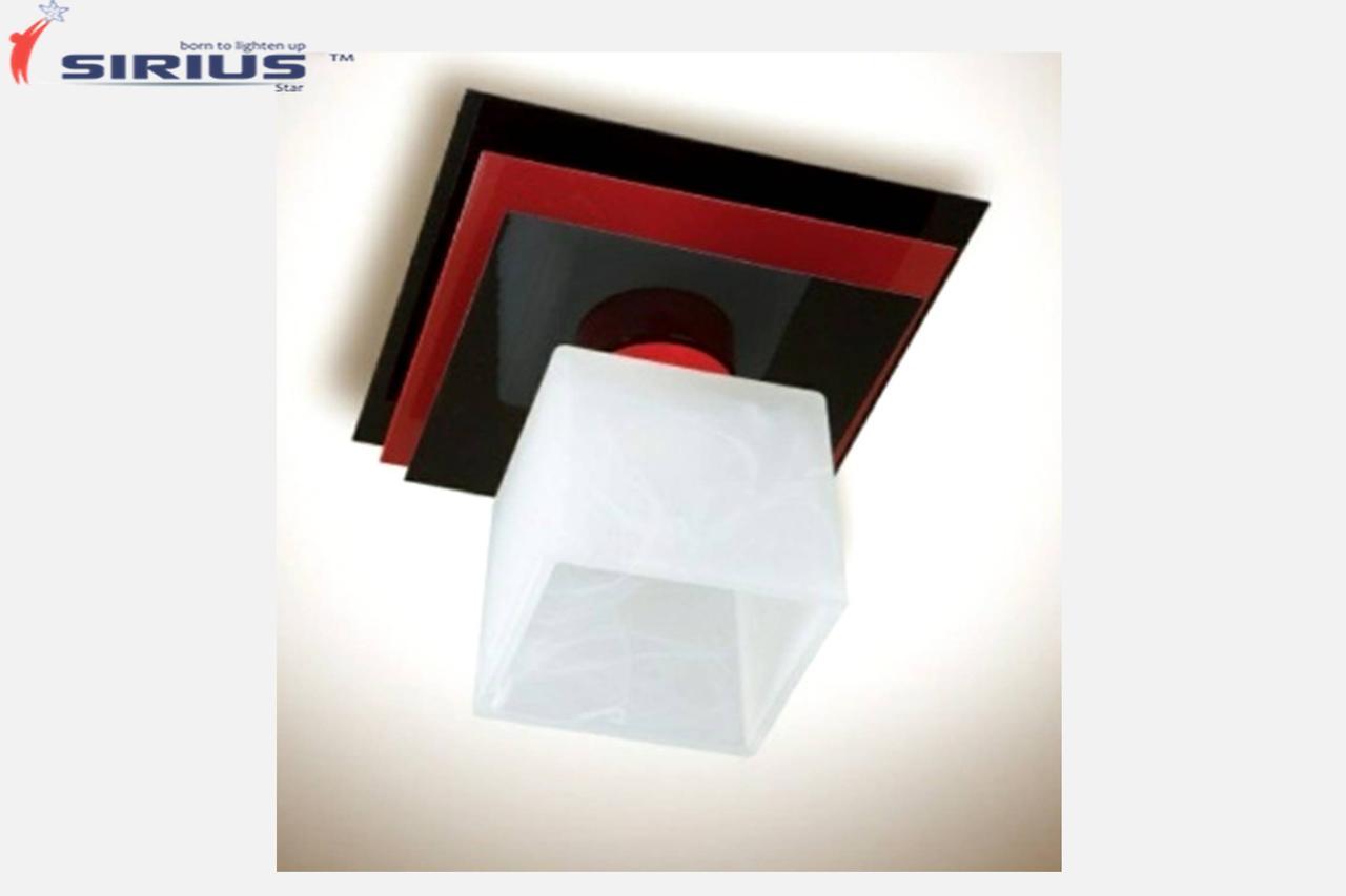 Светильник потолочный на 1 плафон Sirius PR 1008/1 красный+черный