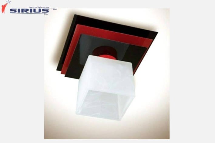 Светильник потолочный на 1 плафон Sirius PR 1008/1 красный+черный, фото 2