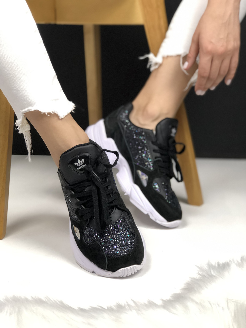 Кроссовки Adidas Falcon Black White Diamond 2