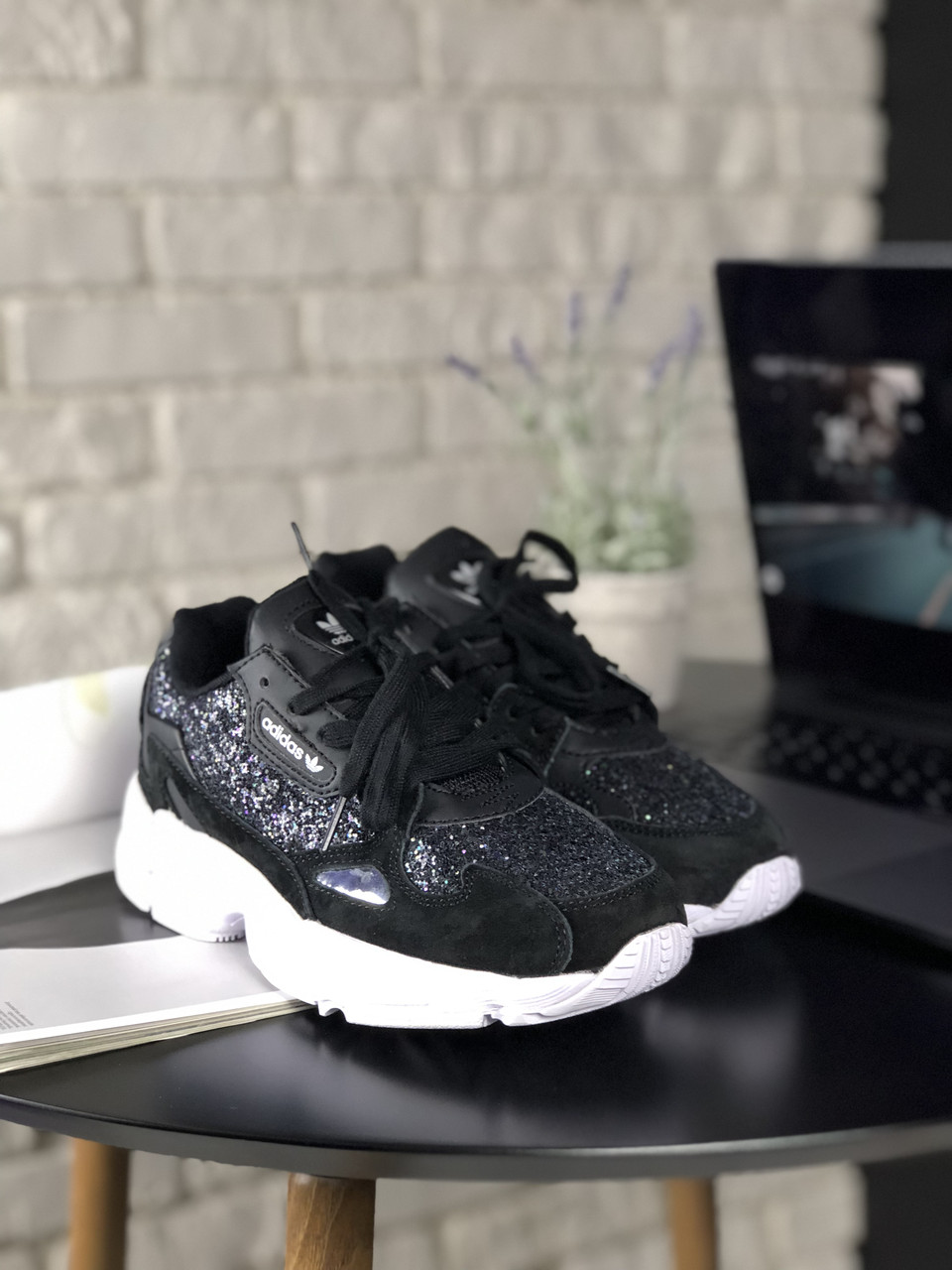 Кроссовки Adidas Falcon Black White Diamond 5