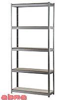 Стеллаж металлический для склада/магазина/дома ЧК-80 1960х920х460, оцинкованный, 5 полок ДСП, до 80 кг/полку