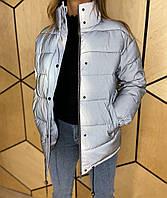 Демисезонная молодежная  куртка светящаяся в темноте светоотражающая