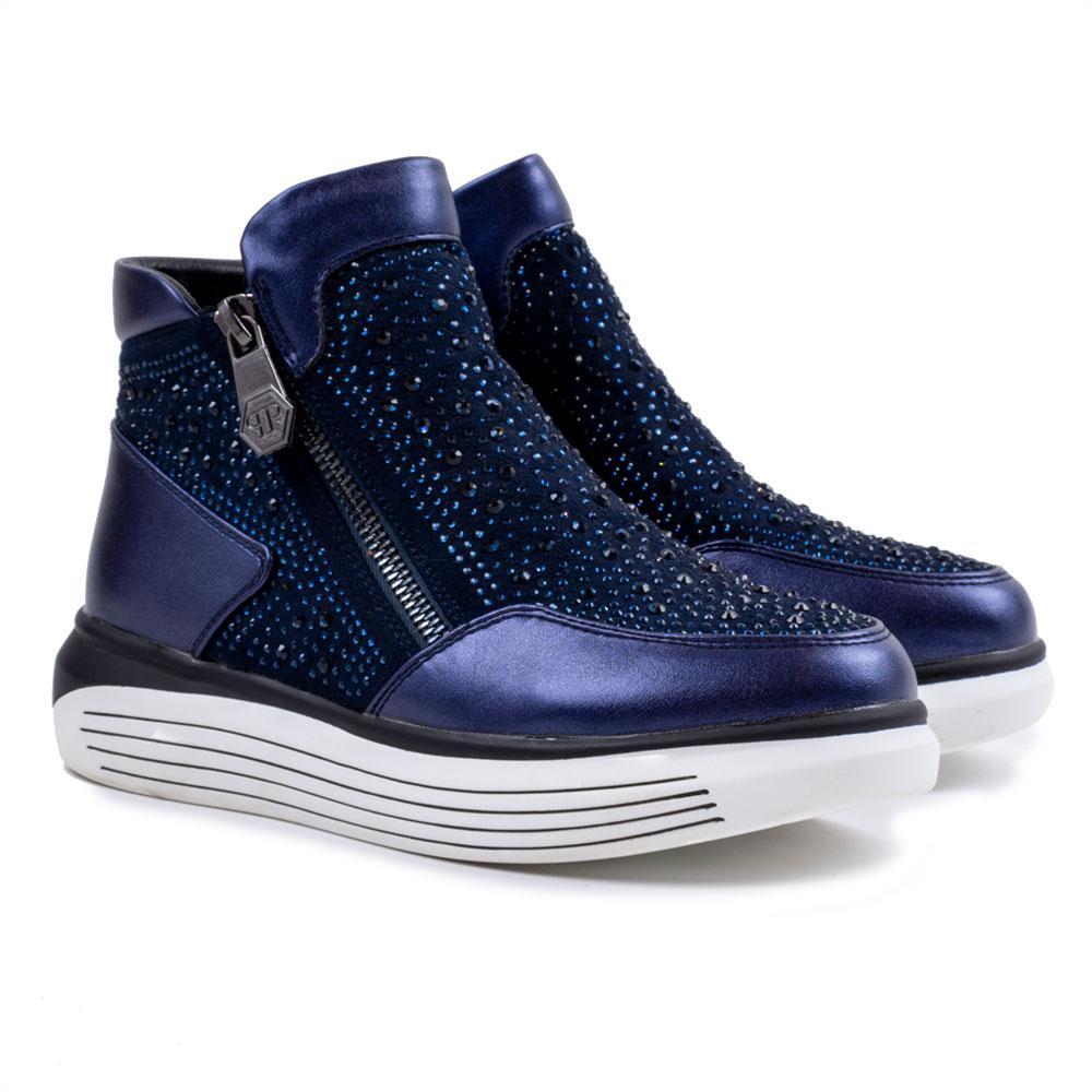 Ботинки для девочек Tom.m 38  синий C-B24-49-B