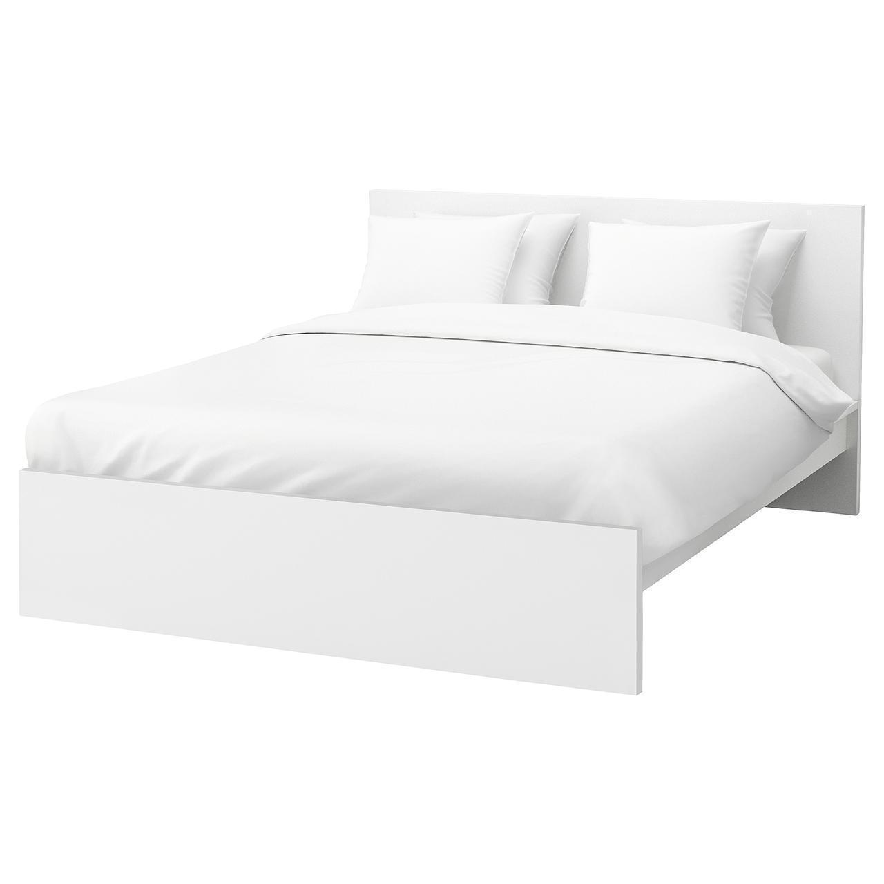 IKEA MALM Кровать высокая, белый, Леирсунд  (190.198.44)