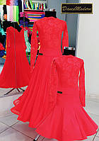 """Платье для бальных танцев бейсик Fl.Red - geo из такней """"Крисанн"""""""