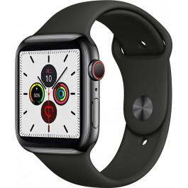 """Умные часы-телефон 1.54"""" с камерой Smart Watch Z6S (черные)"""