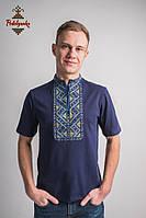 Чоловіча вишиванка Лоза жовто-блакитна, фото 1