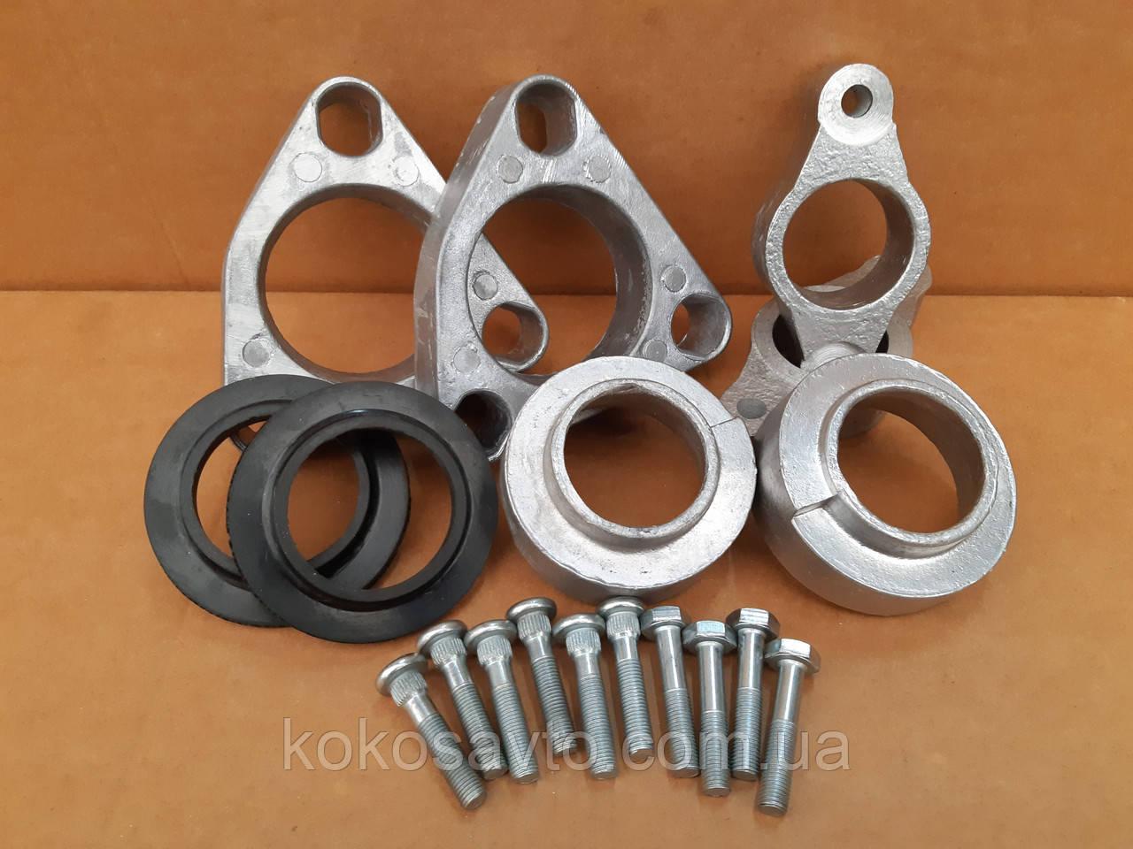 Проставки Киа Сид Kia Ceed для увеличения клиренса комплект зад и перед высота 20-30мм материал алюминий