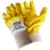 Рукавички робочі ХБ з нітриловим покриттям Werk WE2132Н (68314)