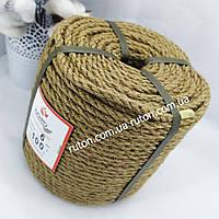 Джутовая веревка для поделок хендмей 6мм 100м