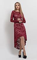Гипюровое платье-каскад