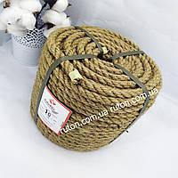 Натуральная джутовая веревка для поделок и декора 10мм 50м