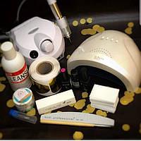 Набор для наращивания ногтей Kodi Professional с лампой Sun One и и фрезером ZS-601
