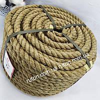 Канат веревка джутовая 14 мм х 50 м - пенька - Украина