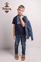Вишиванка для хлопця Лоза сіро-голуба