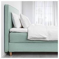 IKEA DUNVIK Кровать, Хoвaг средней жесткости, Tustna светло-бирюзовый  (991.867.92)