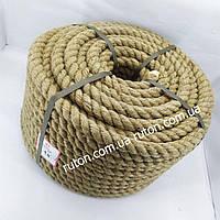 Канат веревка джутовая 18 мм х 50 м - пенька - Украина