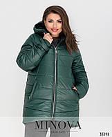 Тёплая куртка с капюшоном Разные цвета Большие размеры Батал