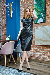 Сукня з еко-шкіри 1226.2 колір чорний